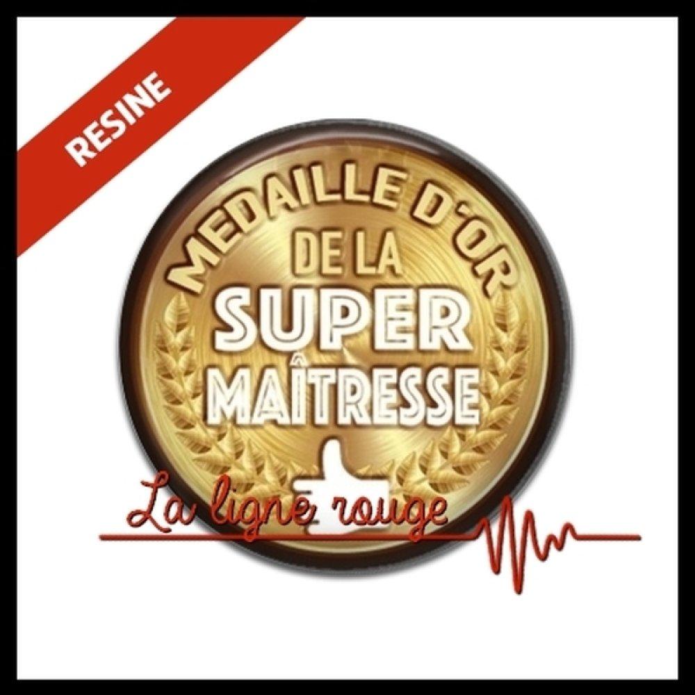 Cabochon Resine 25 Mm Cabochon Medaille D Or De La Super Maitresse Rond Resine Epoxy Ref 11209 Un Grand Marche