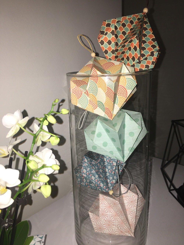 Diamant origami fait main