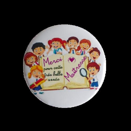 "Magnet + badge ""merci maîtresse"""