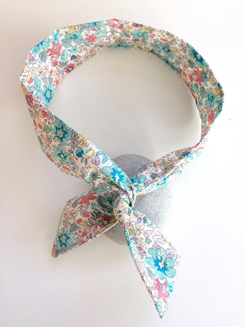 Headband fil de fer, bandeau de tête en tissu Liberty