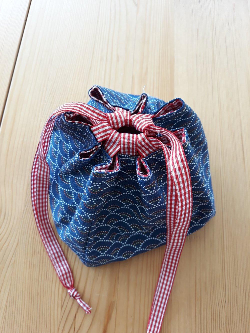 Pochon, petit sac de rangement, inspiration japonaise