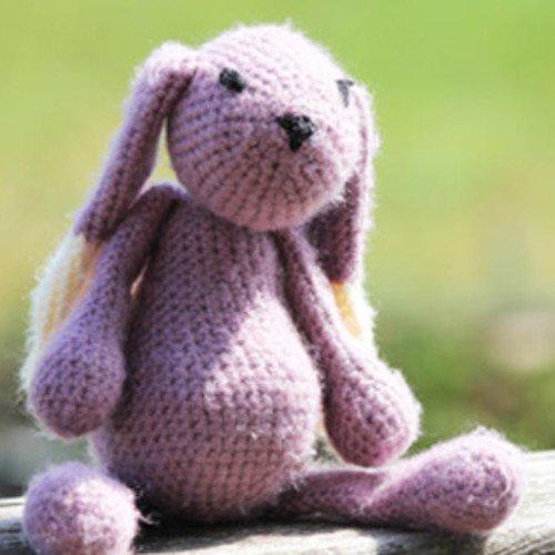 Doudou lapin au crochet, collection la ménagerie