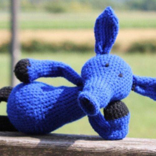 Doudou fourmilier au crochet, collection la ménagerie