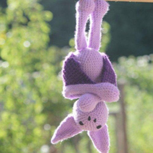 Doudou chauve souris au crochet, collection la ménagerie