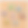 1 breloque pendentif -papillon- métal argenté et email - fermoir mousqueton