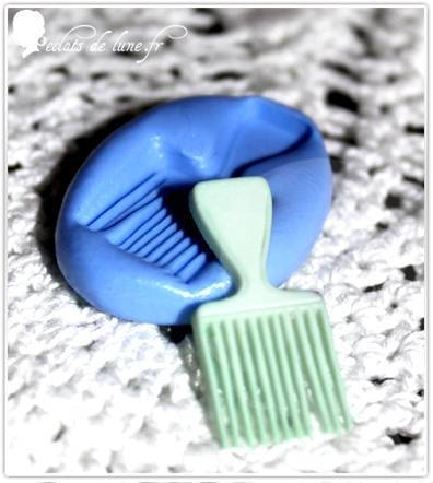 Moule silicone peigne a cheveux 26 mm