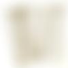 90 tiges à oeil, tiges à tête ronde, 60 mm, couleur bronze