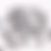 48 fermoirs à griffes 1,2 cm argent noir