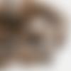 8 fermoirs à griffes cuivre 2,4 cm