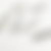 12 fermoirs à griffes 2,4 cm