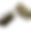18 fermoirs à griffes 1,2 cm bronze