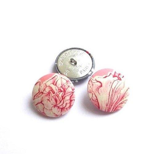 Bouton recouvert de tissu liberty sheree rose vendu à l'unité