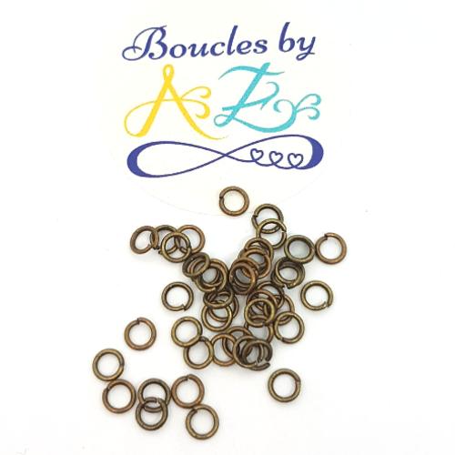 Anneau de jonction bronze 4mm x 100 app-37.