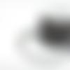 Suédine strass noire 3mm sss-7.
