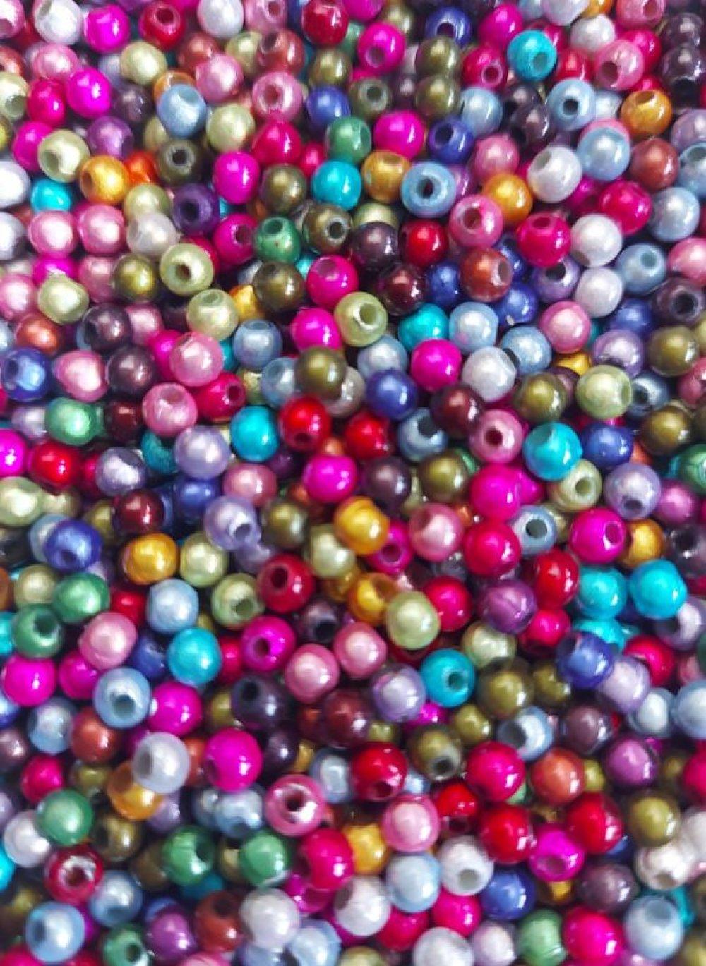 30 perles magiques, vert kaki 4mm PVE1-2.