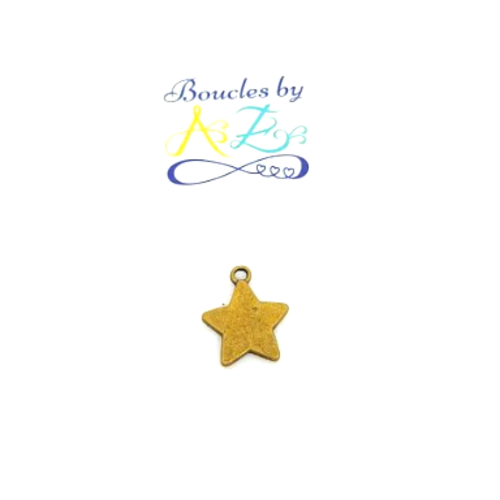 Breloque étoile bronze 19x15mm br5-2.