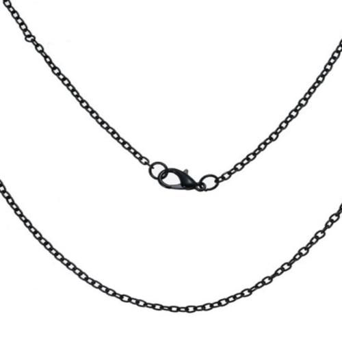 Collier chaîne noire 62 cm sbr-20.