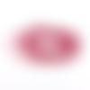 Suédine rose framboise à strass 3mm sss-13.