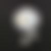 Perles blanches en céramique 10mm pblc3-18