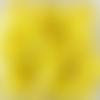 Perles à facettes jaunes 6x4mm x30 pja4-11