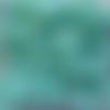 Perles à facettes turquoises 6x4mm x30 ptu4-21.