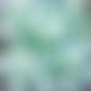 Perles à facettes turquoises 8x6mm x20 ptu4-22.