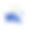 Perles toupies à facettes bleues 8x8mm x50 pble7-5.