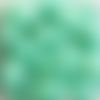 Perles à facettes vertes 8x6mm x20 pve6-21.