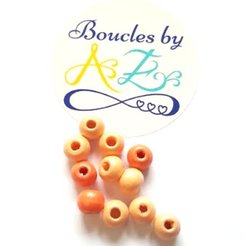 Perles en bois mix orange 6mm x50 por3-2.
