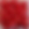 Perles à facettes rouges 8x6mm x20 prou4-20.