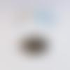Cabochon feuille de ginkgo, noir et doré 20mm caplv104-2