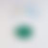 Cabochon feuille de ginkgo, vert 20mm caplv104-4