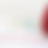 Fil nylon tressé rouge framboise 0,8mm nyl-27