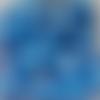 Perles à facettes bleues 6x4mm x30 pble6-12