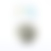 Estampe feuille monstera noire 36x32mm geno-67