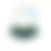Breloque pompon éventail vert 25x40mm geve-62.