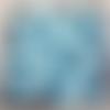Perles à facettes bleues 6x4mm pble4-9.