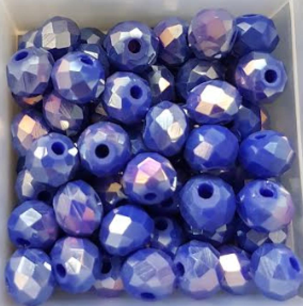 Perles à facettes bleues 6x4mm x30 PBLE5-12