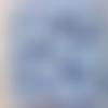 Perles à facettes bleues 6x4mm x30 pble5-13