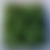 Perles à facettes vertes 6x4mm x30 pve3-10