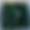 Perles à facettes vertes 6x4mm x30 pve3-11