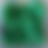 Perles à facettes vertes 6x4mm x30 pve3-12