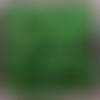 Perles à facettes vertes 6x4mm x30 pve3-22