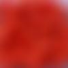 Perles à facettes rouges 6x4mm x30 prou2-22