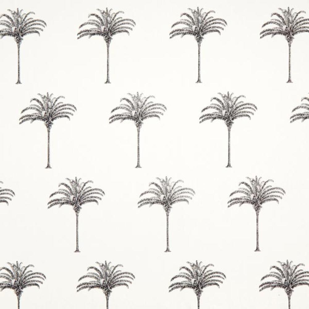 Coupon semi-panama motif palmiers 60cm x 140cm