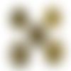 5 supports pendentifs ovales en métal bronze pour cabochon de 30x40 mm