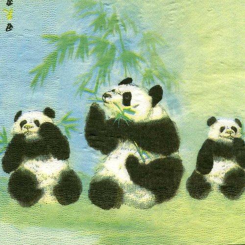 A. serviette papier famille panda