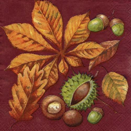 Glands feuilles Iron On Patch automne automne Gland