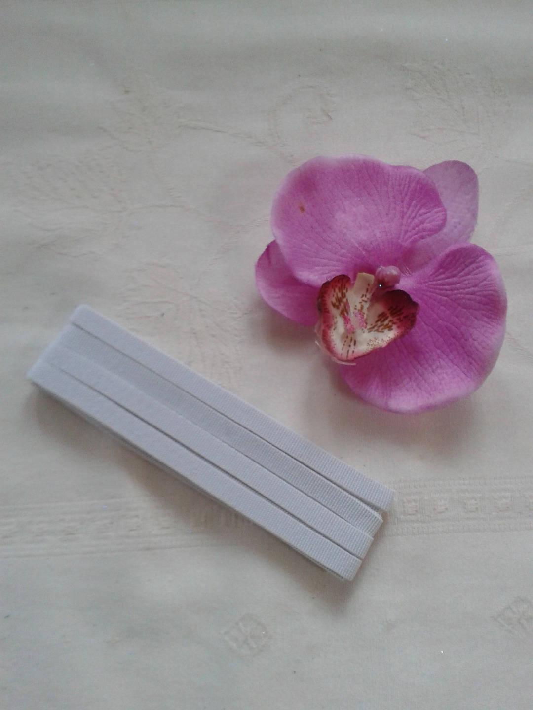 élastique blanc souple 2.5 m x 7 mm plat doux ceinture, jupe, pantalon, caleçon