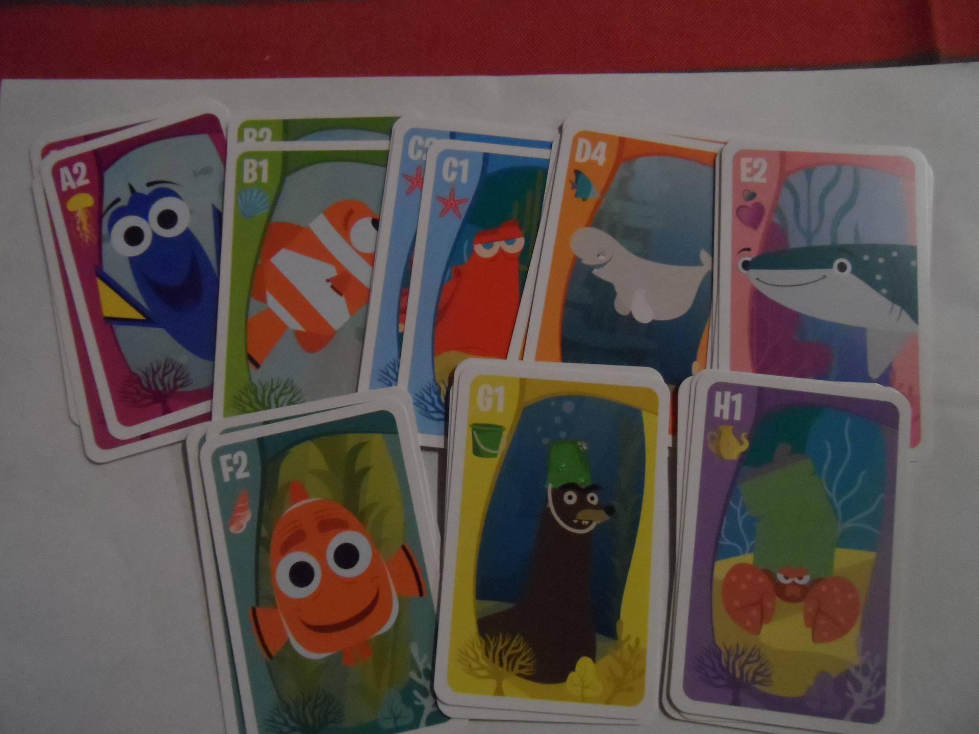 "jeu de 7 familles  les aventures de ""nemo""  jeu de 32 cartes jeu enfants"